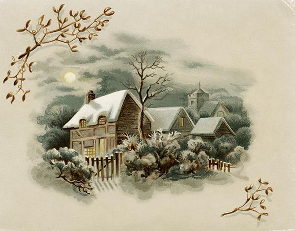 VictorianCardWinterScene