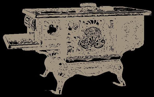 Gefeuerung eines Küchenherdes